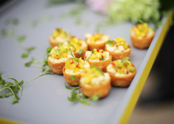 Chicken Canapé - Mango Salsa - London Catering