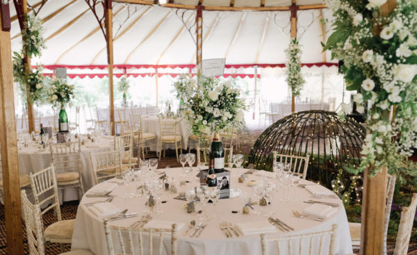 Round dining tables - Kent Wedding