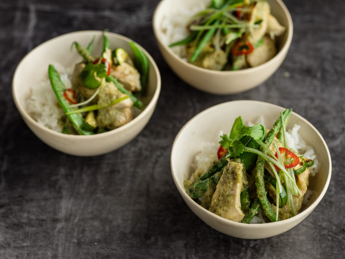 Thai Green Curry - Bowl Food - London Catering