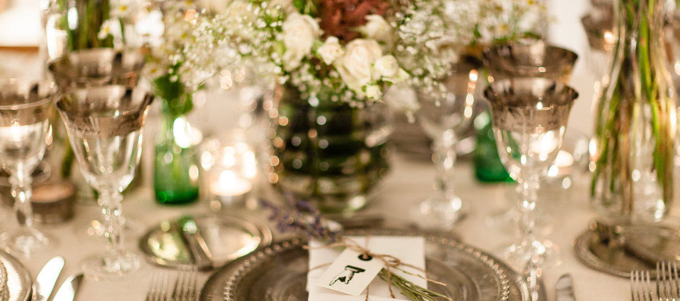 Wedding Inspiration - Wedding Tableware - Floral Table