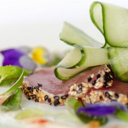 Tuna Carpaccio Starter - London Catering - Events