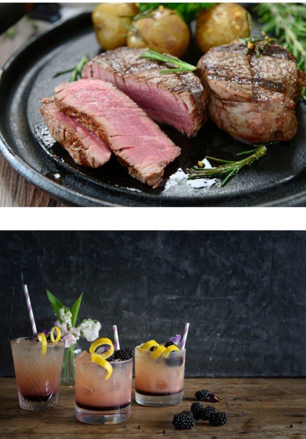 hampers, fillet beef, diy cocktails